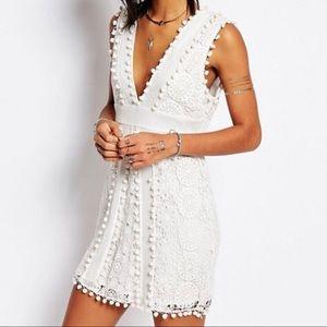TulaRosa Vesta lace pompom dress new NWT small